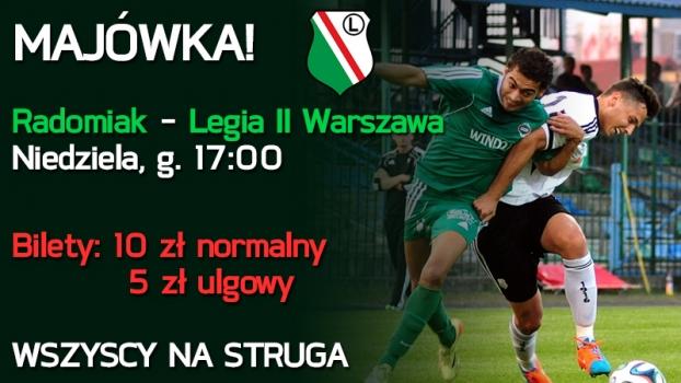 W niedzielę mecz z Legią - WSZYSCY NA STRUGA!