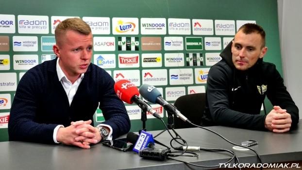 Trenerzy Lesisz i Wróbel po meczu Radomiak - Rozwój