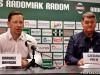 Trenerzy Banasik i Palik po meczu Radomiak - Stal