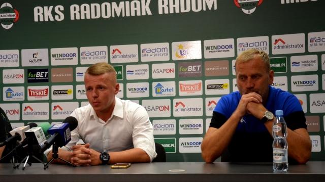 Trenerzy Lesisz i Boros po meczu Radomiak - Olimpia Elbląg