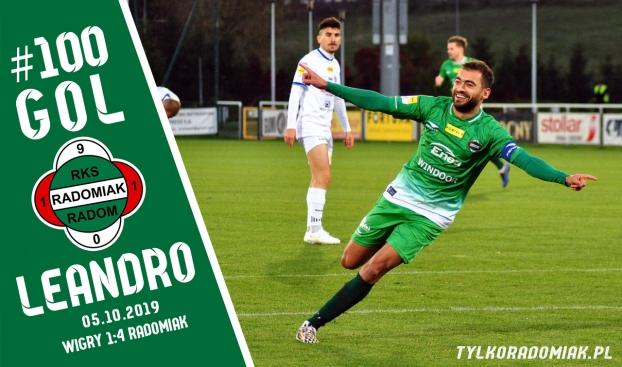 100. i 101. gol Leandro w Radomiaku!
