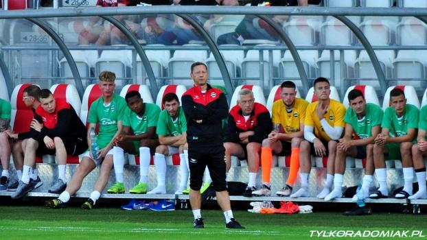 Trener Dariusz Banasik po sparingu z ŁKS-em