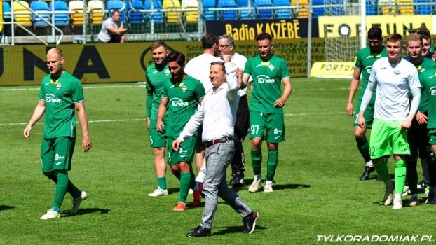 Trener Dariusz Banasik po wygranej z Arką