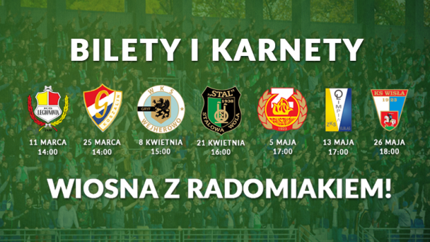 Bilety i karnety - runda wiosenna 2017/2018 - INFORMACJE