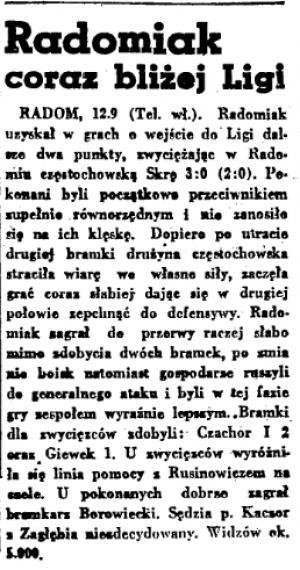 Historia spotkań ze Skrą Częstochowa