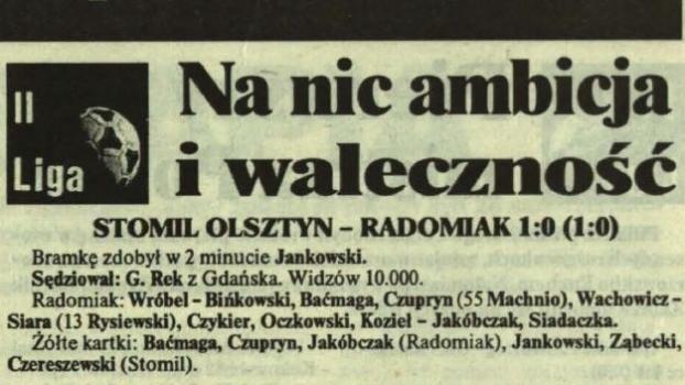 Pierwszy gol i pierwsze zwycięstwo w Olsztynie