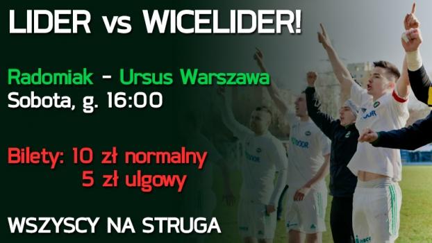 W sobotę mecz z Ursusem - WSZYSCY NA STRUGA!