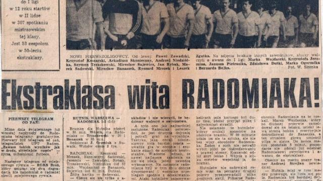 35. rocznica awansu Radomiaka do ekstraklasy