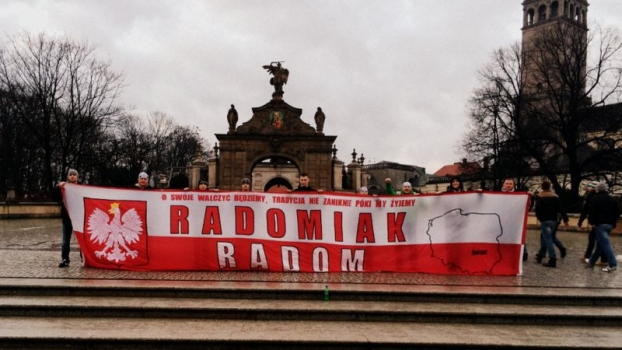Kibice Radomiaka na VII Patriotycznej Pielgrzymce Kibiców na Jasną Górę