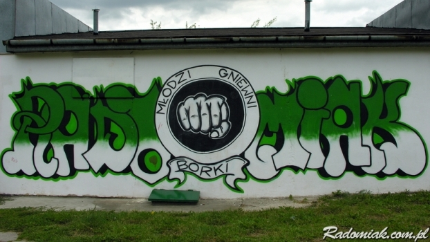 Graffiti RADOMIAK MŁODZI GNIEWNI BORKI
